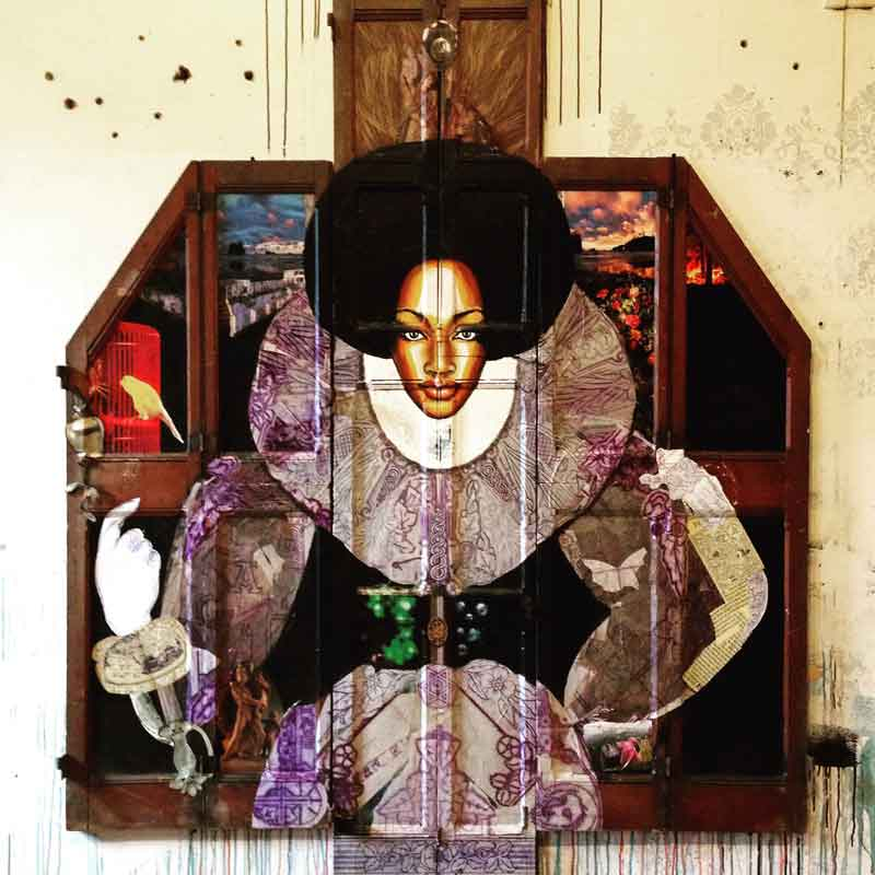 Collage Painting African Queen by Antony Zito
