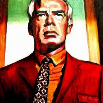 Painting a Lee Marvin portrait for Jim Jarmusch